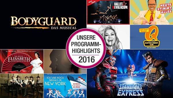 Unsere Programm-Highlights 2016
