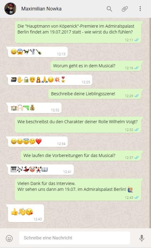 Das Emoji Interview mit Maxmilian Nowka