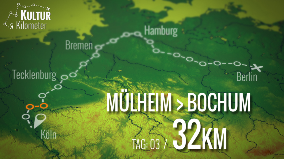KulturKilometer – Tag 03: Von Mülheim nach Bochum
