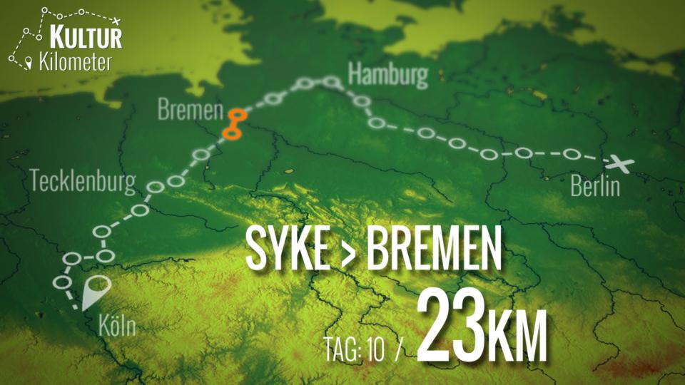 KulturKilometer – Tag 10: Von Syke nach Bremen