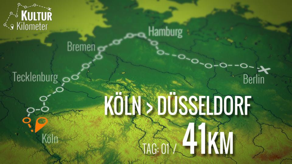 KulturKilometer – Tag 01: Von Köln nach Düsseldorf